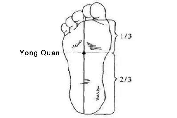 Yongquan acupoint