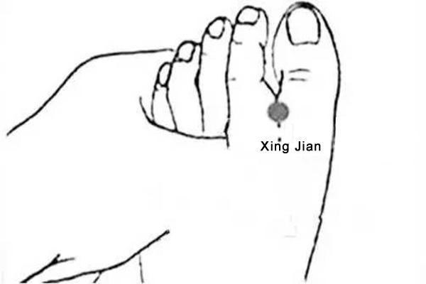 xing jian acupoint