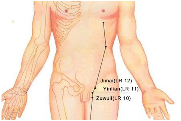 Zuwuli acupoint