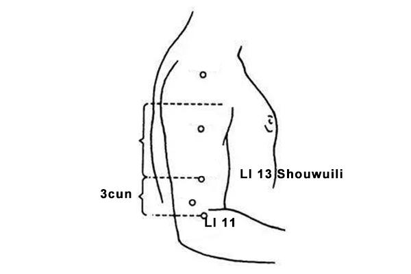 shouwuli acupoint