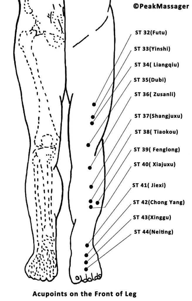 leg acupressure points